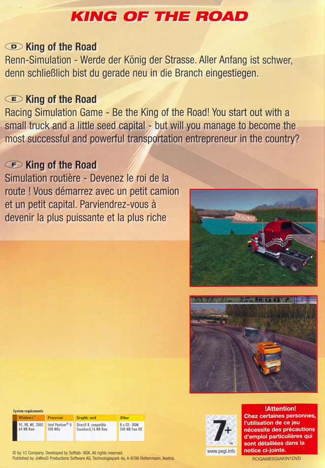 15 Giant Games Vol.1 Windows Other King of the Road Keep Case - Back