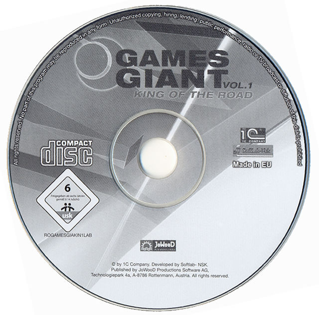 15 Giant Games Vol.1 Windows Media King of the Road disc