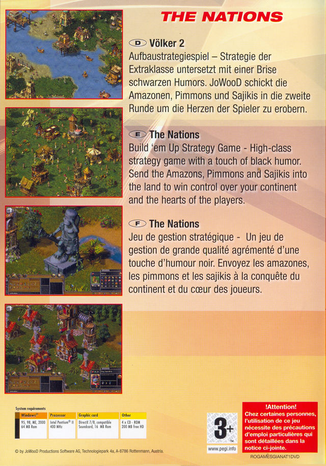 15 Giant Games Vol.1 Windows Other The Nations Keep Case - Back