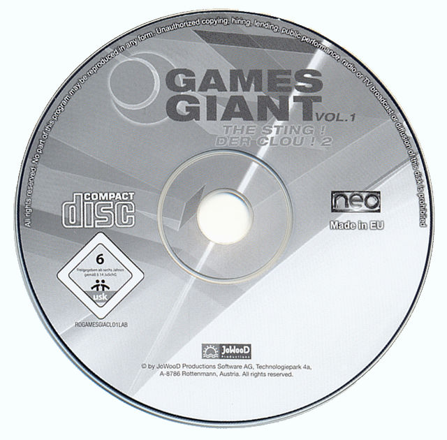 15 Giant Games Vol.1 Windows Media The Sting! disc