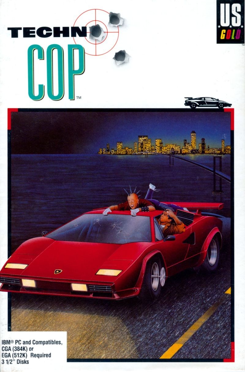 Techno Cop DOS Front Cover