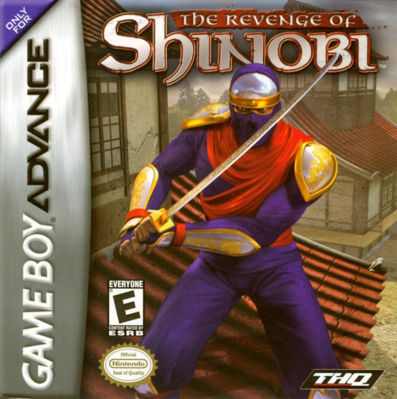 The Revenge of Shinobi Game Boy Advance Front Cover