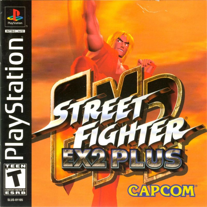 Street Fighter EX 2 Plus PlayStation Front Cover