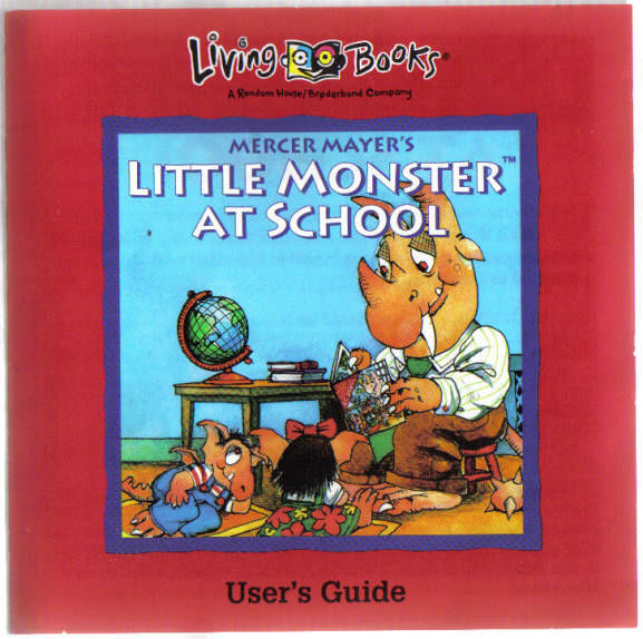 Little Monster at School Windows 3.x Front Cover Also the manual