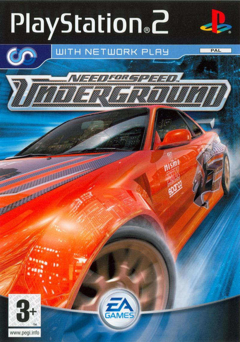 Need for Speed Underground (2003) PlayStation 2 box cover ... Ps2 Need For Speed