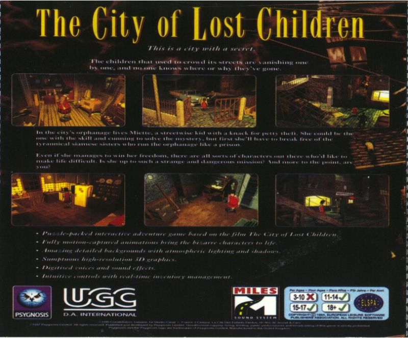 The City of Lost Children DOS Other Jewel Case - Back