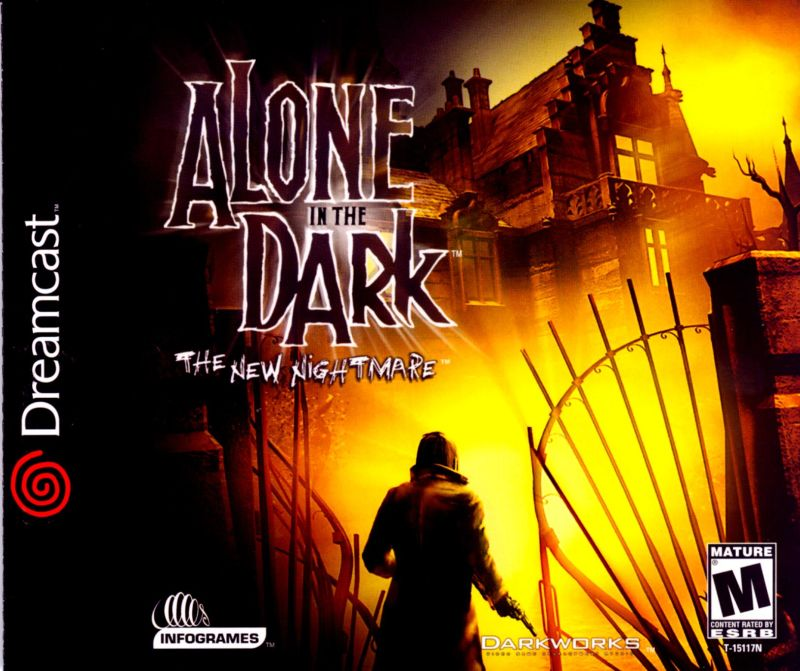 Alone in the Dark: The New Nightmare Dreamcast Front Cover