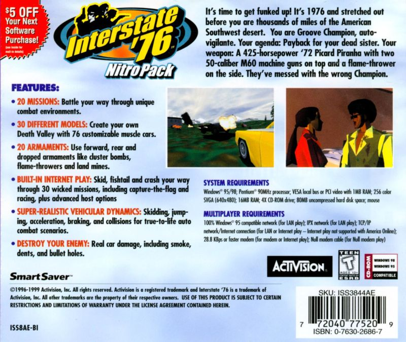 Interstate '76: Nitro Pack Windows Back Cover