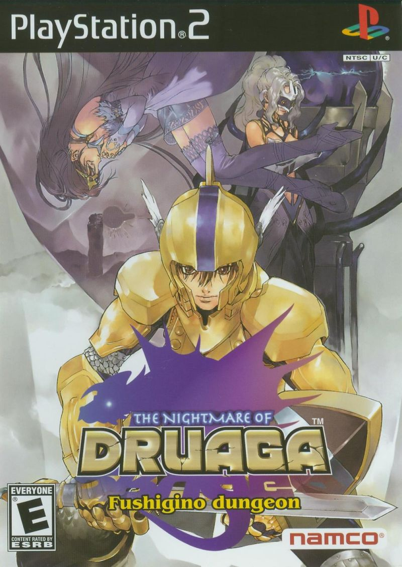 The Nightmare of Druaga: Fushigino dungeon PlayStation 2 Front Cover