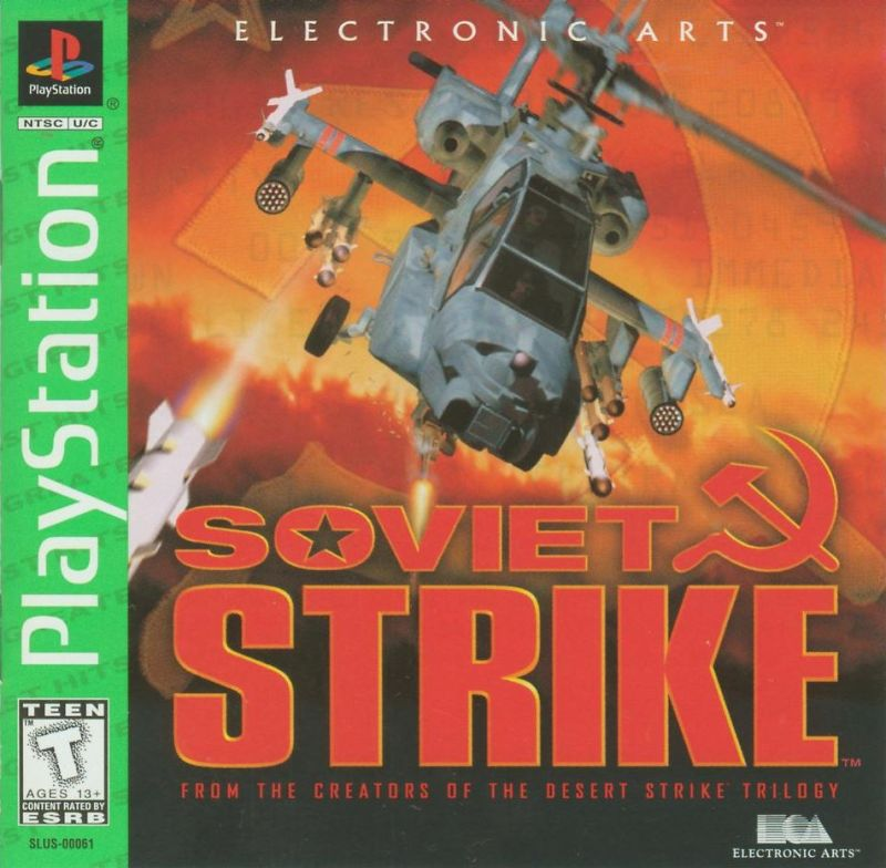 Soviet Strike PlayStation Front Cover