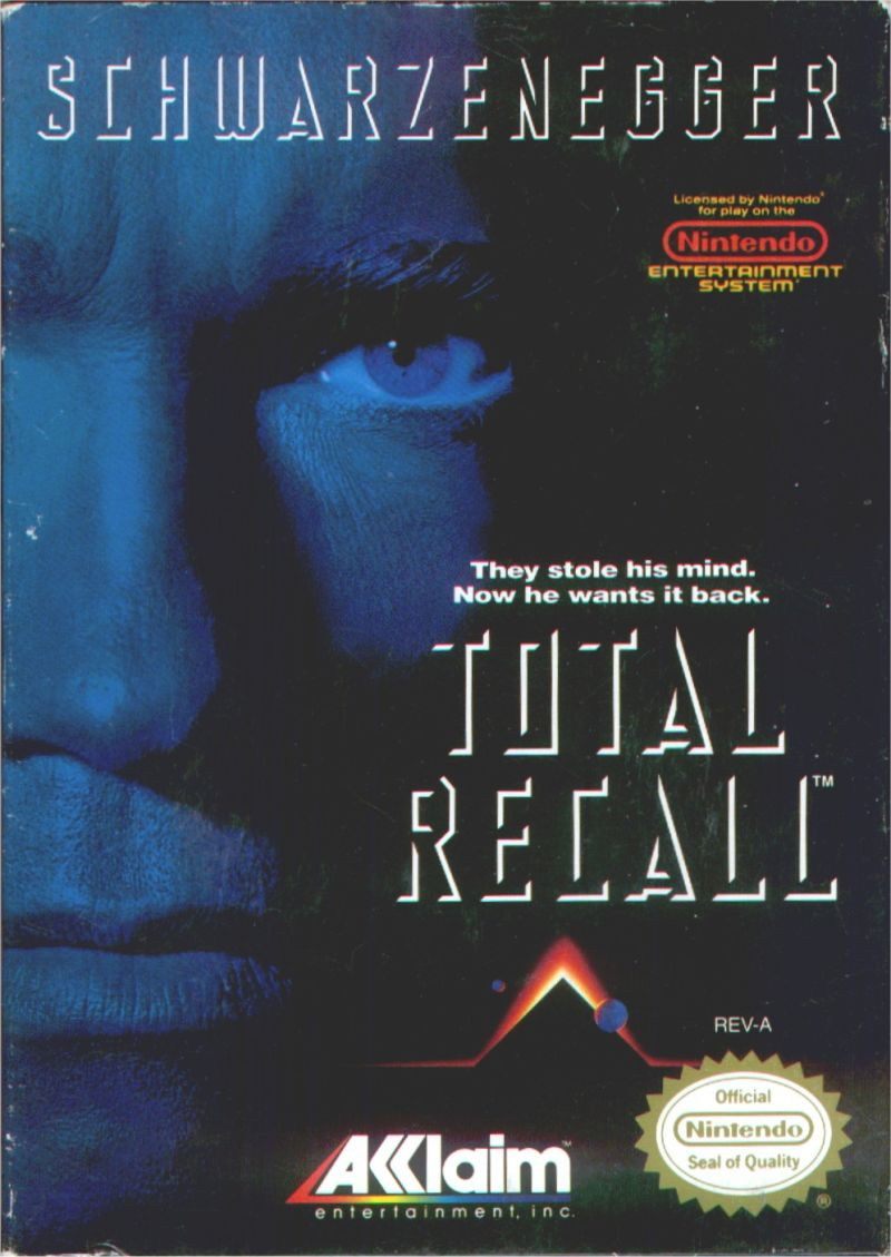 Total Recall NES Front Cover