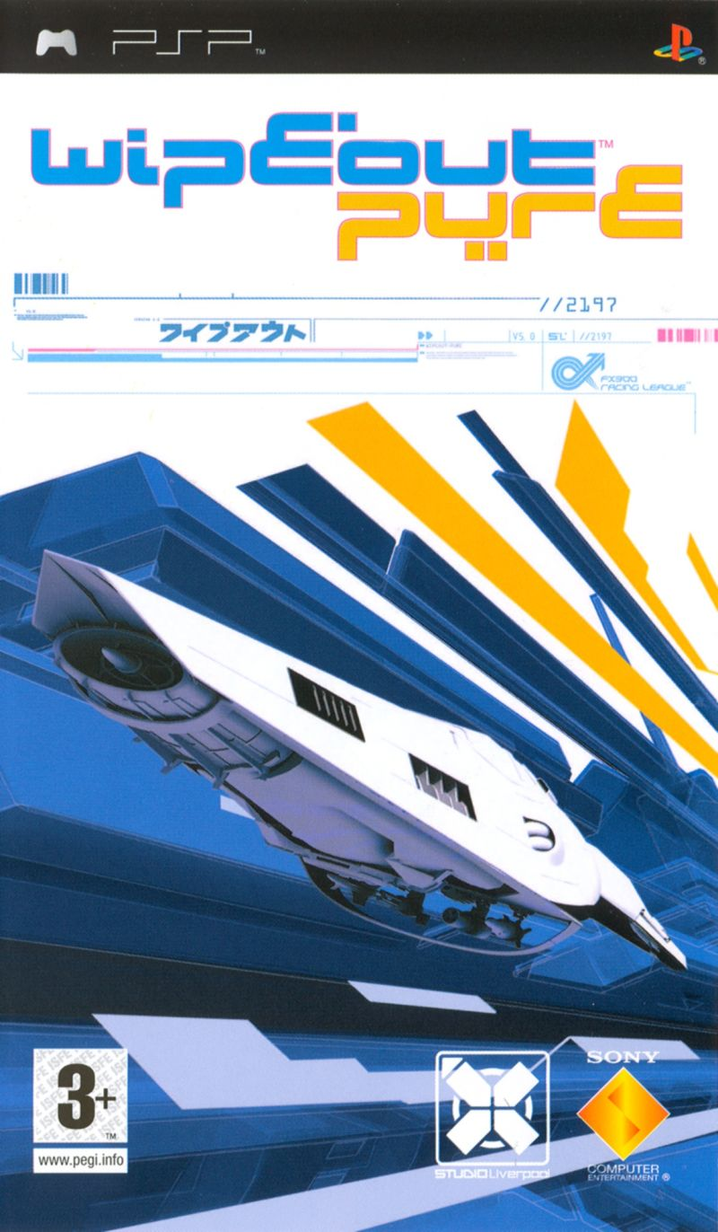 WipEout Pure PSP Front Cover