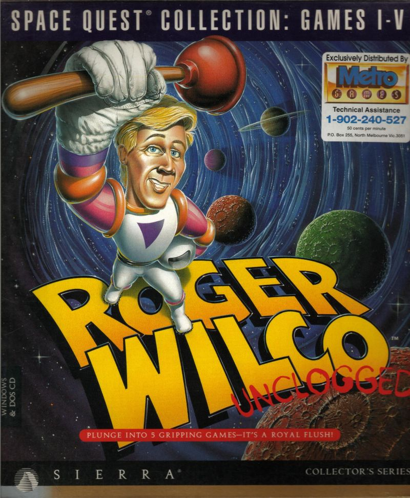 Space Quest (Collector's Edition) DOS Front Cover