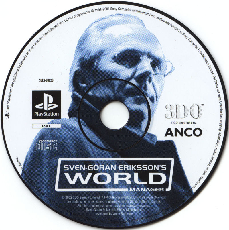 Sven-Göran Eriksson's World Manager PlayStation Media