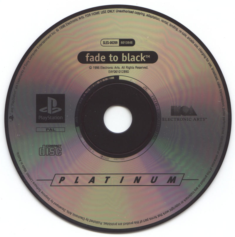 Fade to Black PlayStation Back Cover