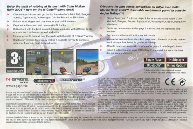 Colin McRae Rally 2005 N-Gage Back Cover