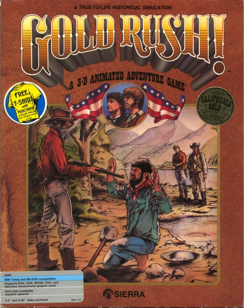 Gold Rush! DOS Front Cover