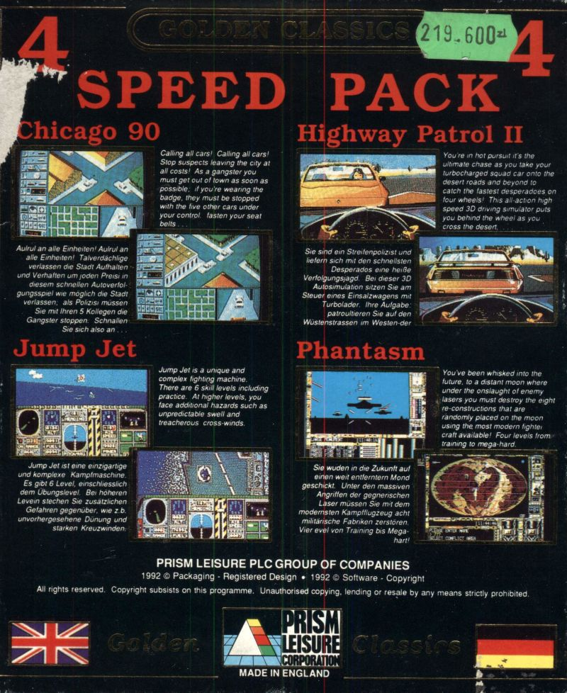 Speed Pack Amiga Back Cover