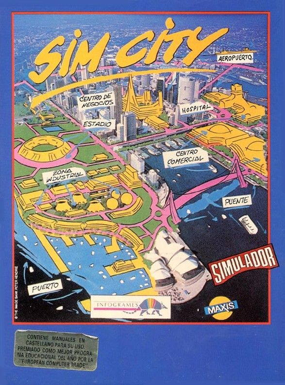 SimCity ZX Spectrum Front Cover