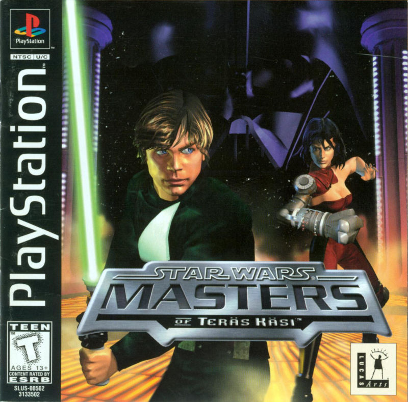 Star Wars: Masters of Teräs Käsi PlayStation Front Cover