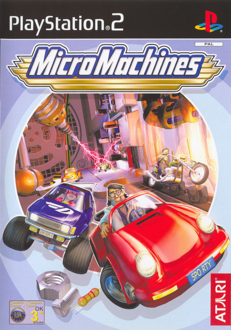 Micro Machines PlayStation 2 Front Cover