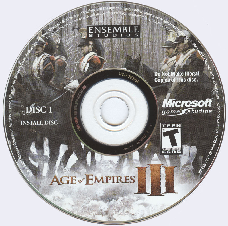 Age of Empires III Windows Media Disc 1