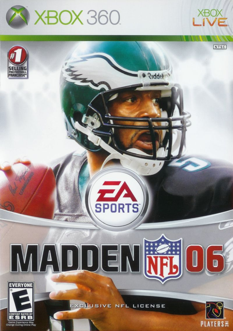 Madden NFL 06 Xbox 360 Front Cover