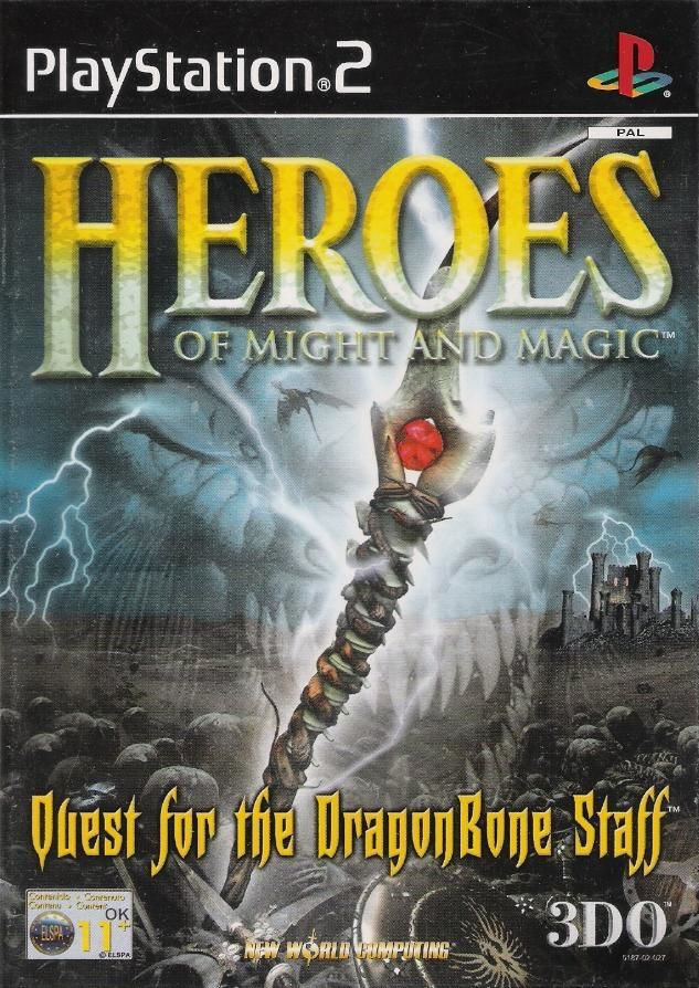 Heroes of Might and Magic: Quest for the DragonBone Staff PlayStation 2 Front Cover
