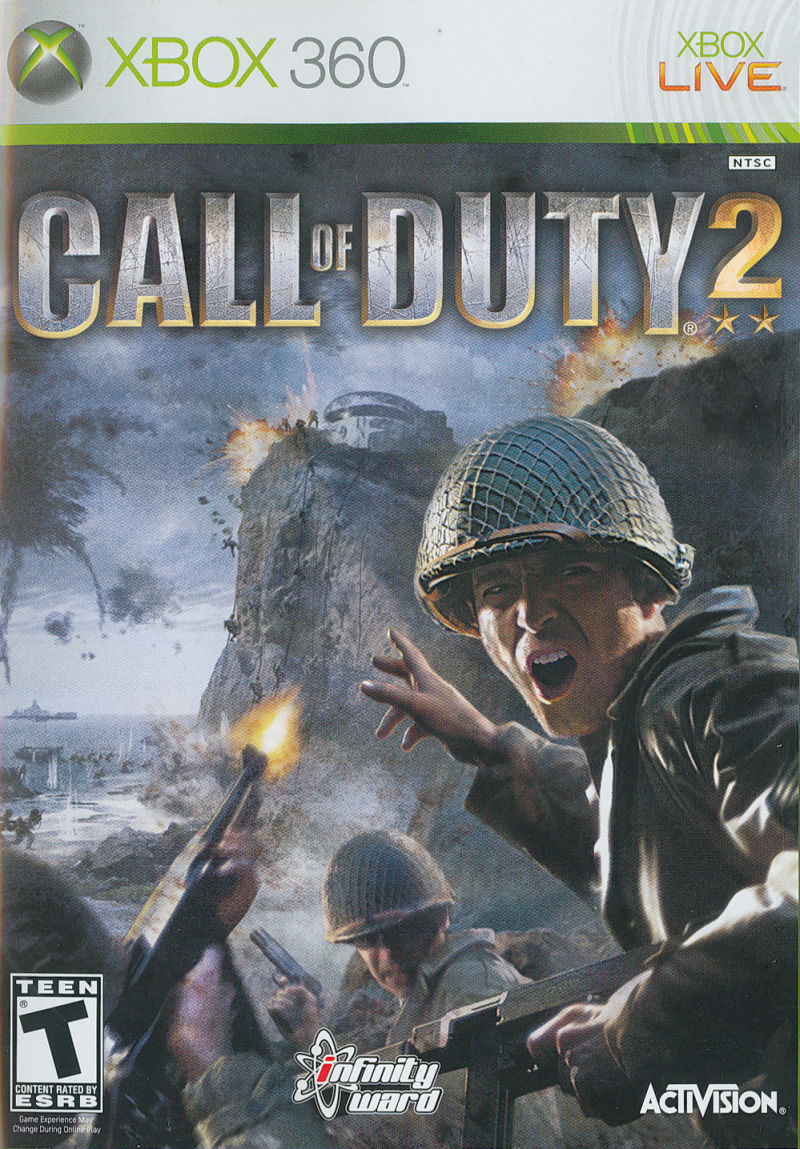 Call of Duty 2 Xbox 360 Front Cover