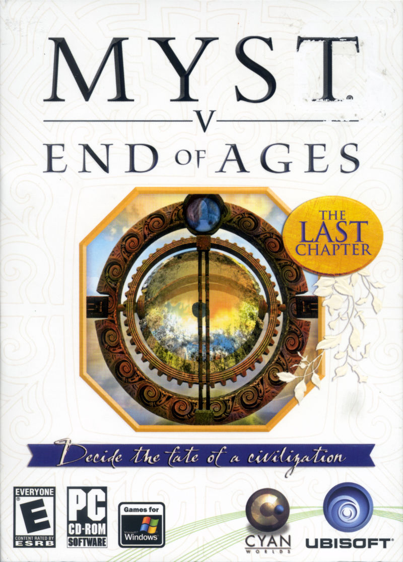 Myst V: End of Ages Windows Front Cover
