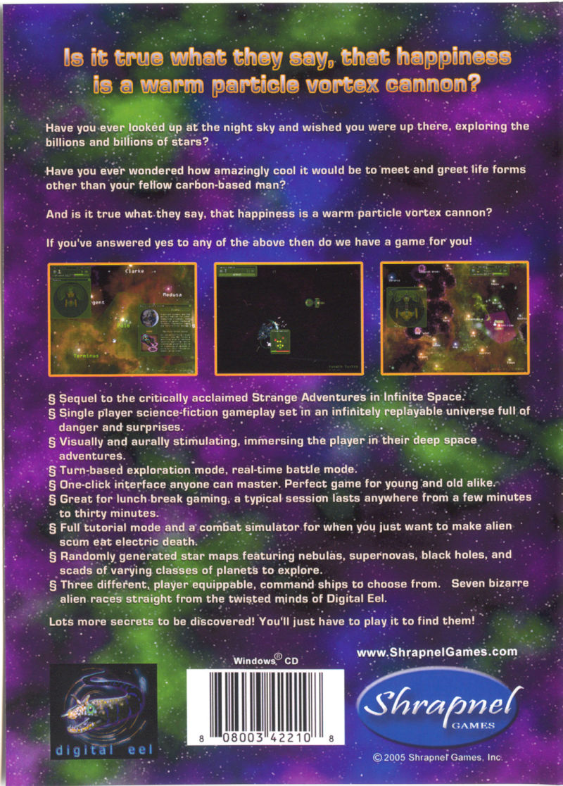 Weird Worlds: Return to Infinite Space Windows Back Cover