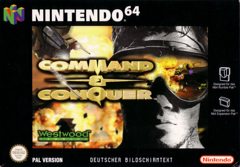 Command & Conquer Nintendo 64 Front Cover