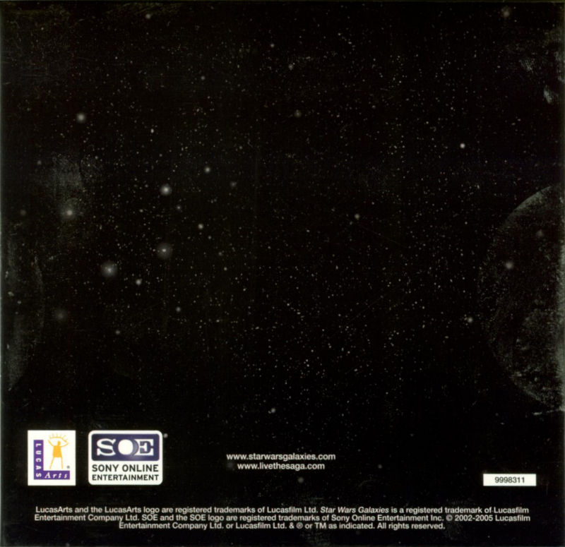 Star Wars: Galaxies - The Total Experience Windows Other Sleeve Holder - Back