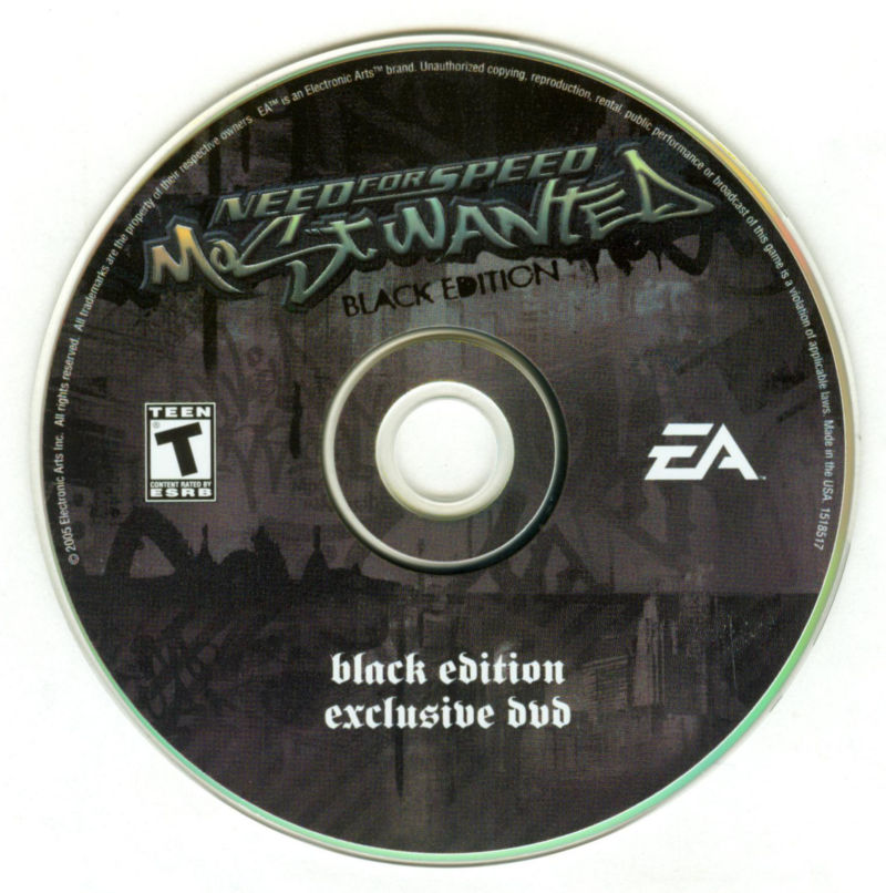 Need for Speed: Most Wanted (Black Edition) PlayStation 2 Media Bonus Disc