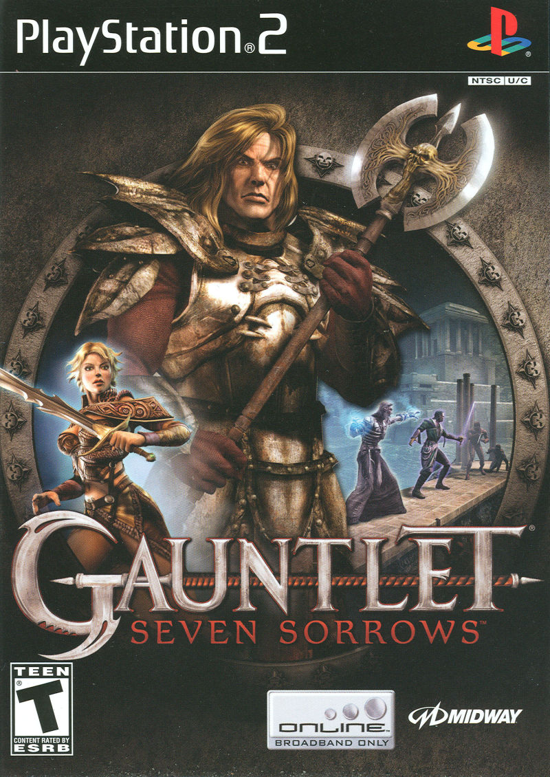 Gauntlet: Seven Sorrows PlayStation 2 Front Cover
