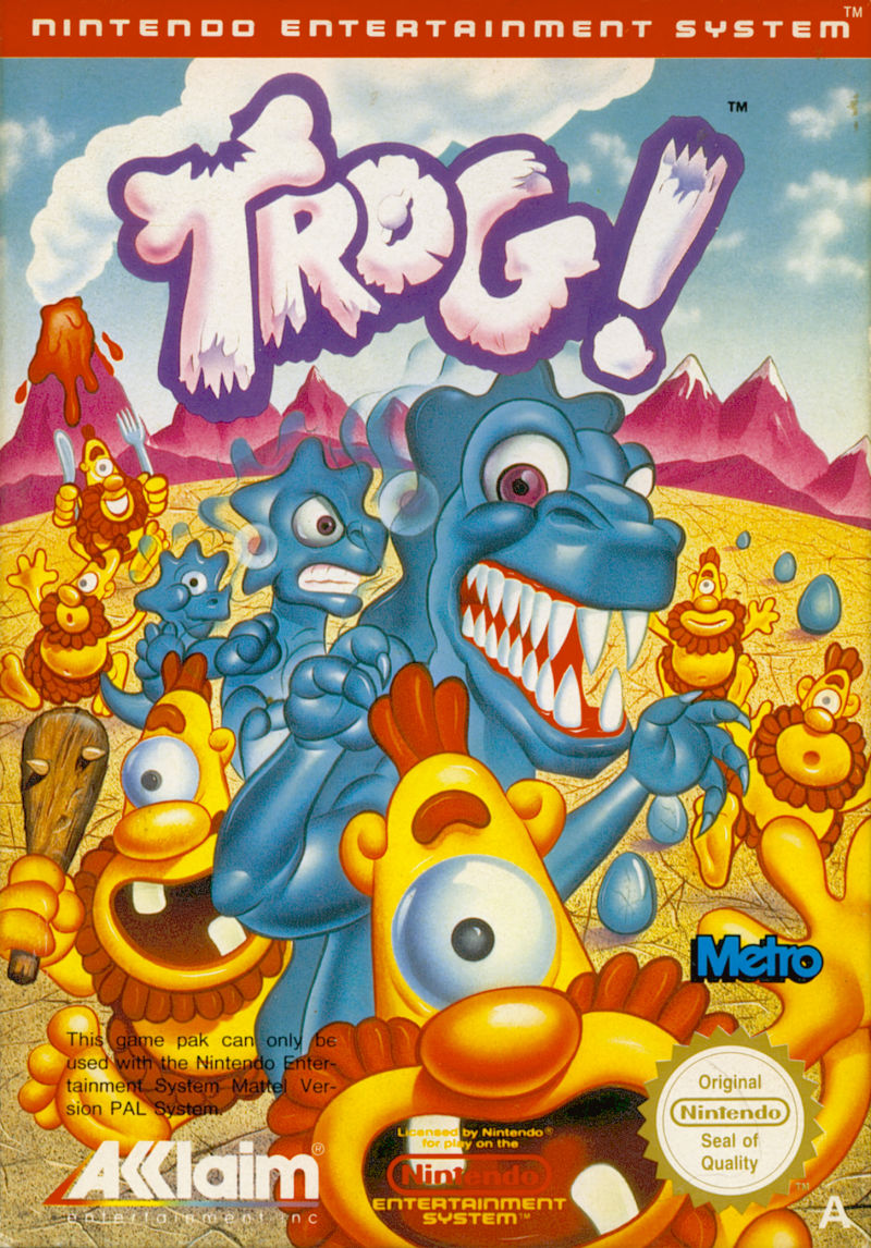 Trog NES Front Cover