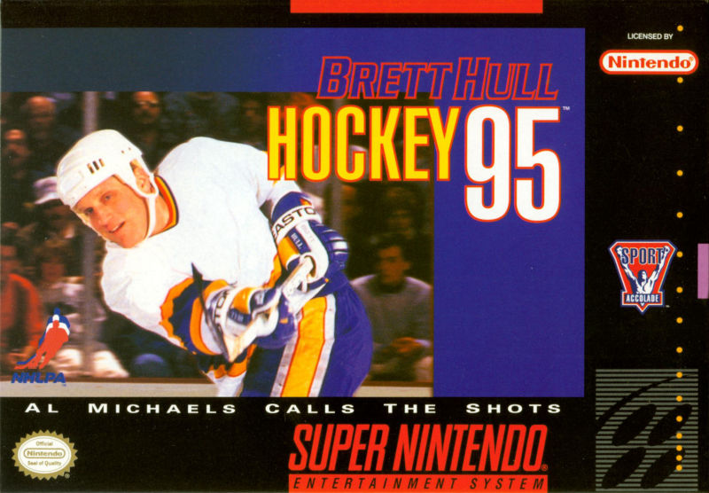 Brett Hull Hockey 95 SNES Front Cover