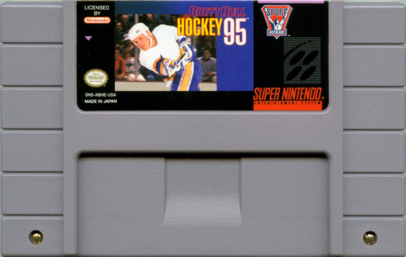 Brett Hull Hockey 95 SNES Media