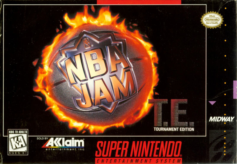 NBA Jam Tournament Edition SNES Front Cover