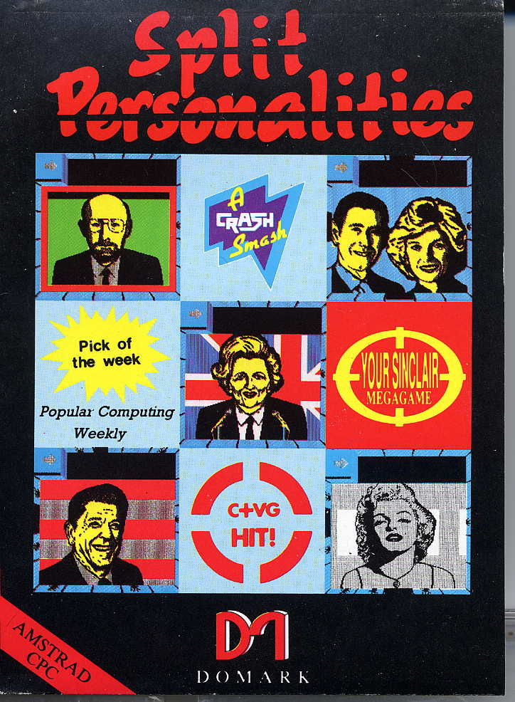 Split Personalities Amstrad CPC Front Cover