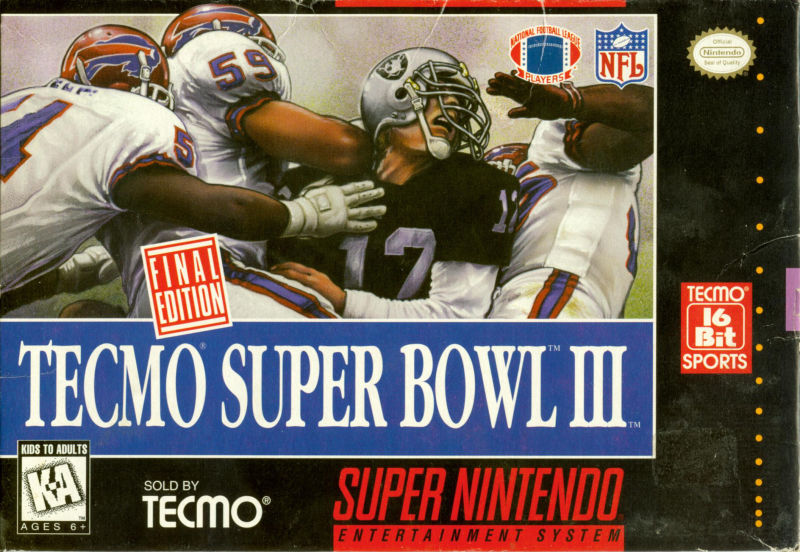 Tecmo Super Bowl III: Final Edition SNES Front Cover