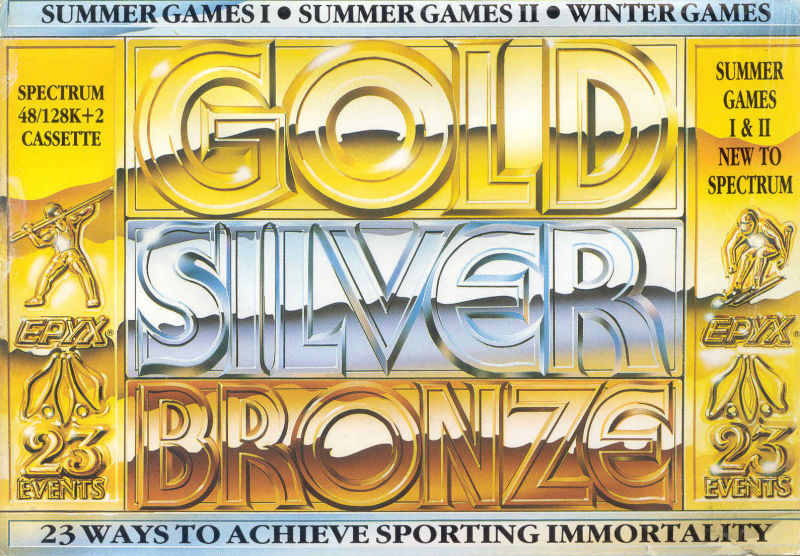 Gold, Silver, Bronze ZX Spectrum Front Cover