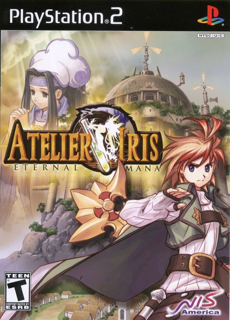 Atelier Iris: Eternal Mana PlayStation 2 Front Cover