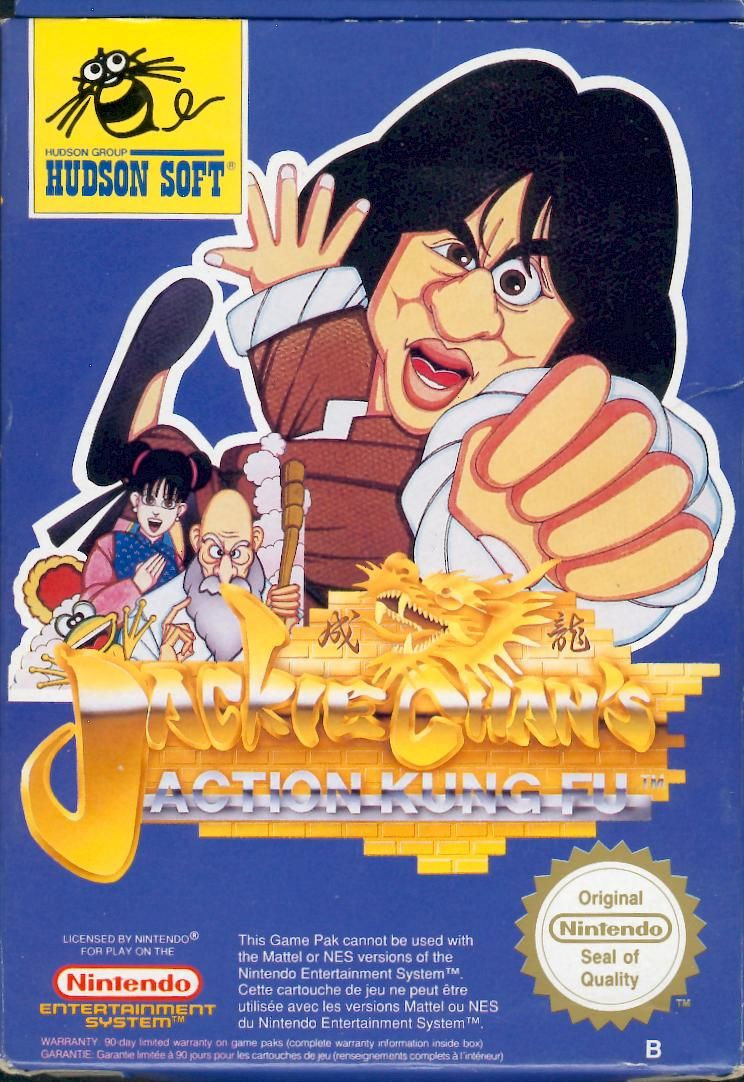 Jackie Chan's Action Kung Fu NES Front Cover
