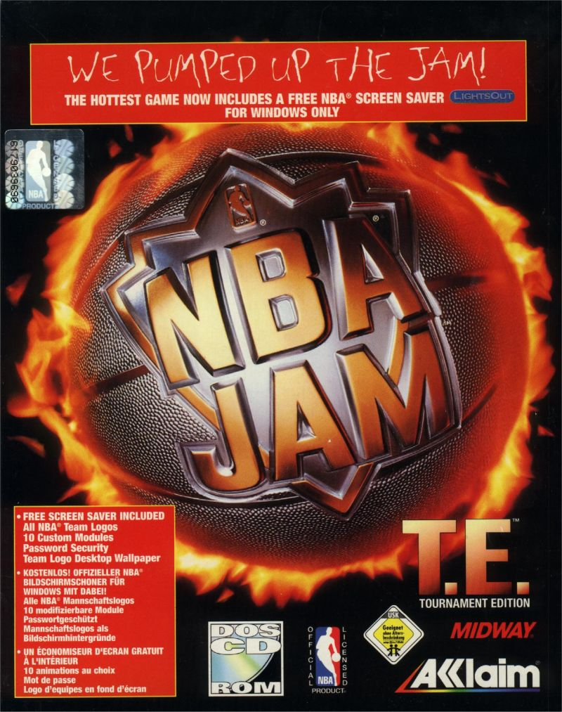 NBA Jam Tournament Edition DOS Front Cover