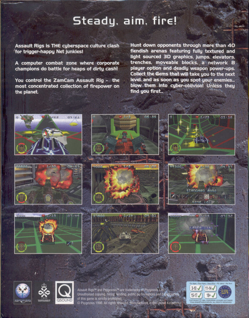 Assault Rigs DOS Back Cover