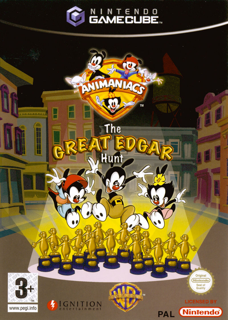 Animaniacs: The Great Edgar Hunt GameCube Front Cover