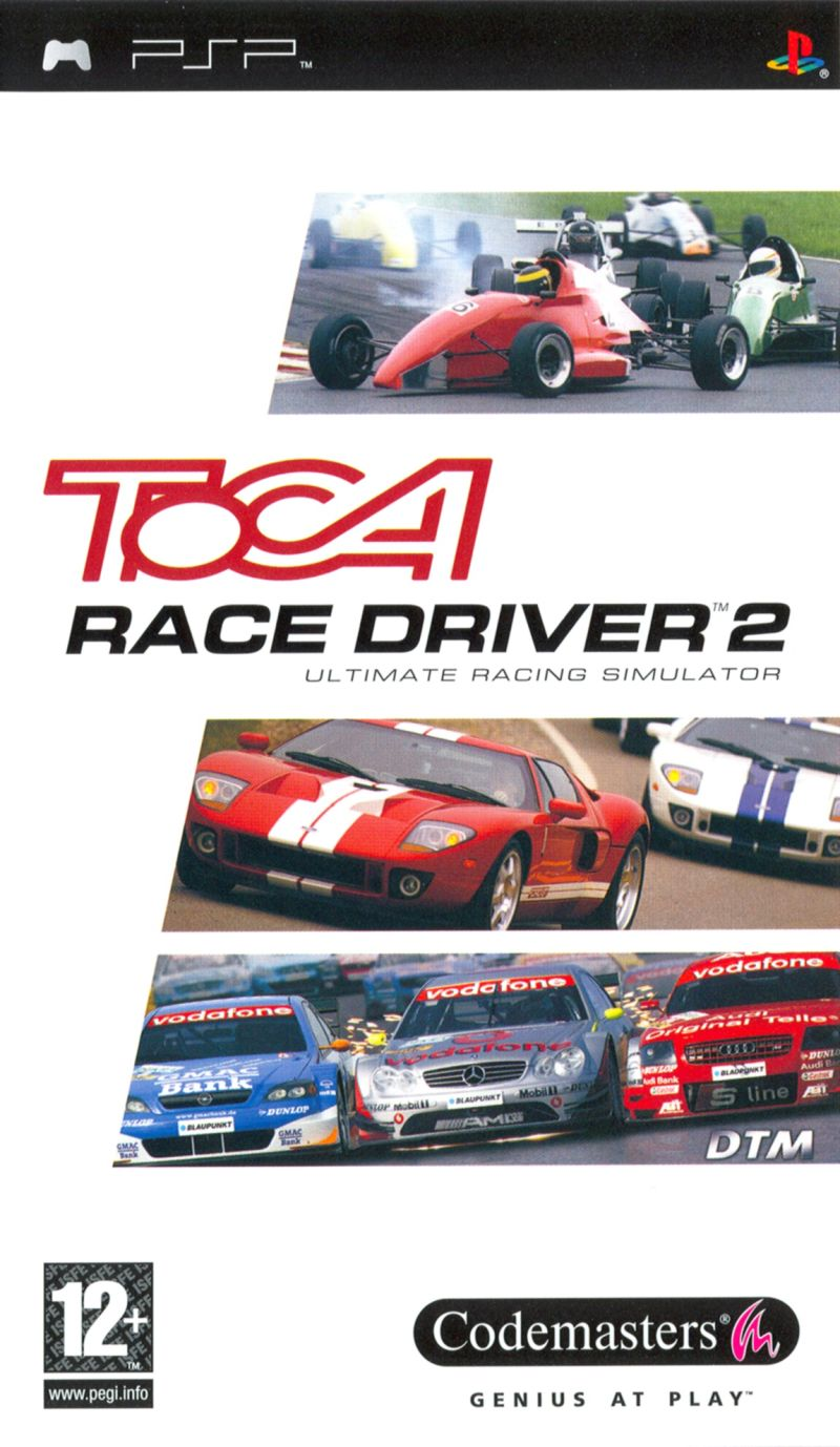 TOCA Race Driver 2 PSP Front Cover