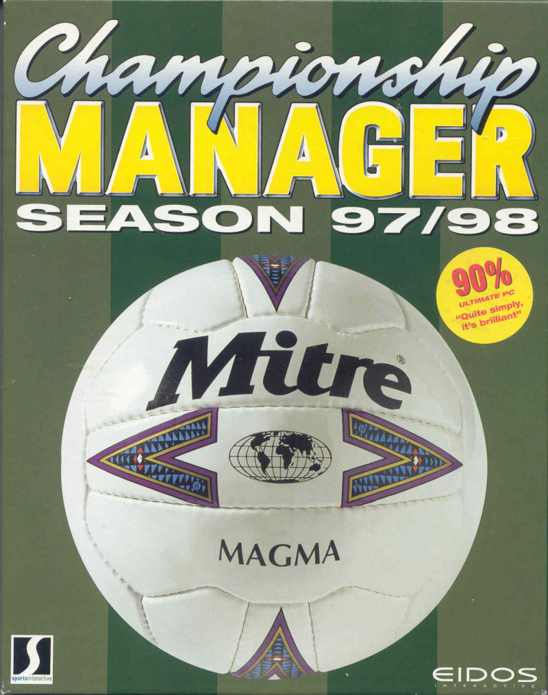 Championship Manager: Season 97/98 DOS Front Cover