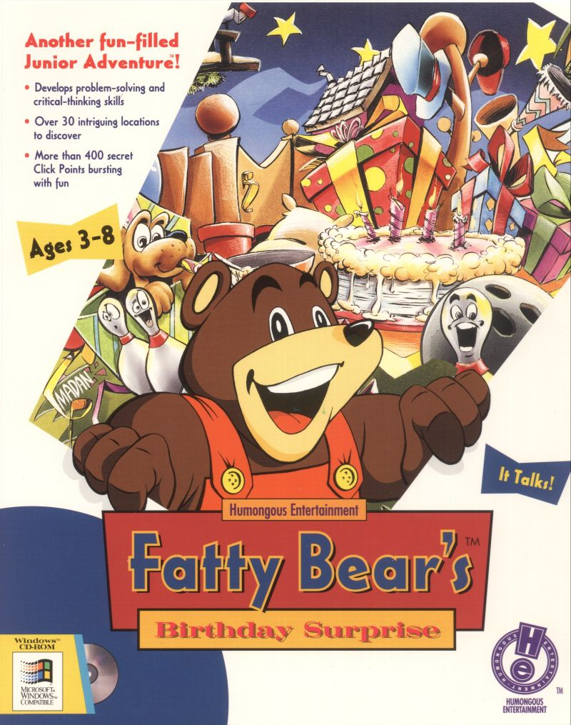 Fatty Bear's Birthday Surprise Windows Front Cover